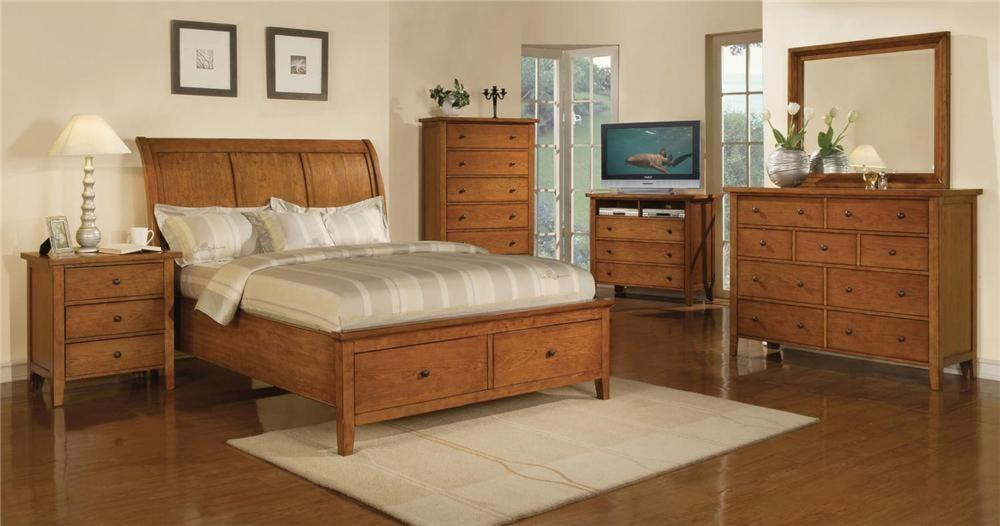 Bedroom Sets Ri classic cognac 4pc queen bedroom set - rotmans - bedroom group
