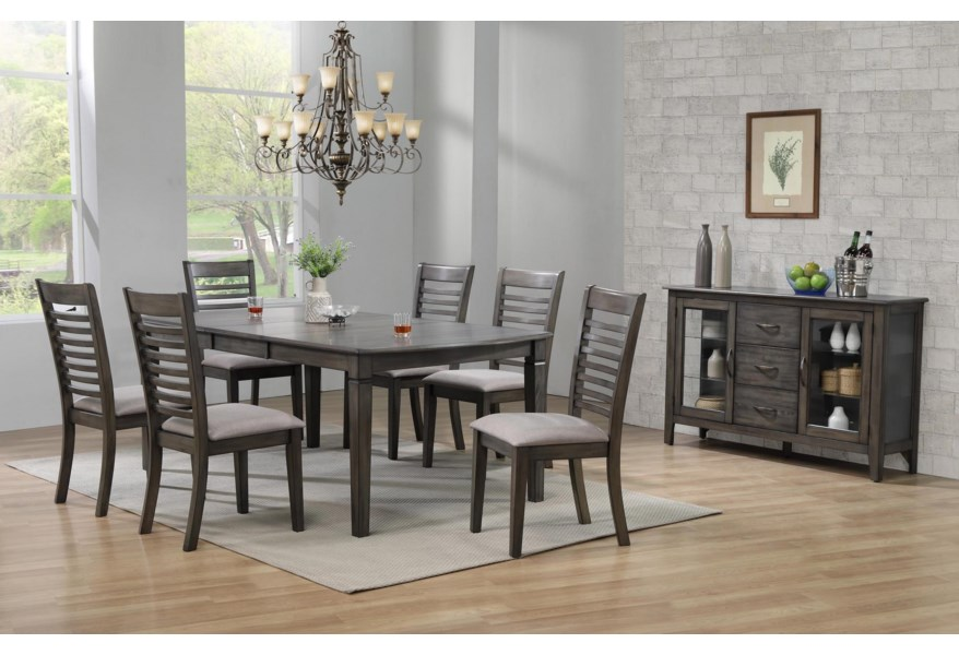 Annapolis 7 Pc Dining Set Bennett S Furniture And Mattresses Dining 7 Or More Piece Sets