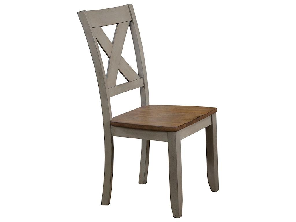 Brayden Grey X Back Farmhouse Dining Side Chair