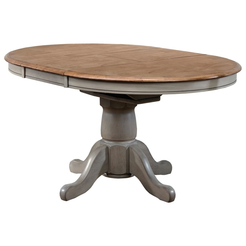 Winners Only Barnwell 42 Pedestal Table With 15 Butterfly Leaf