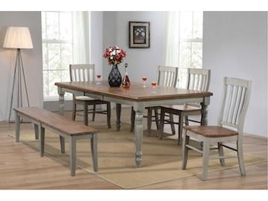 Winners Only BarnwellTable & 4 Chairs with Bench