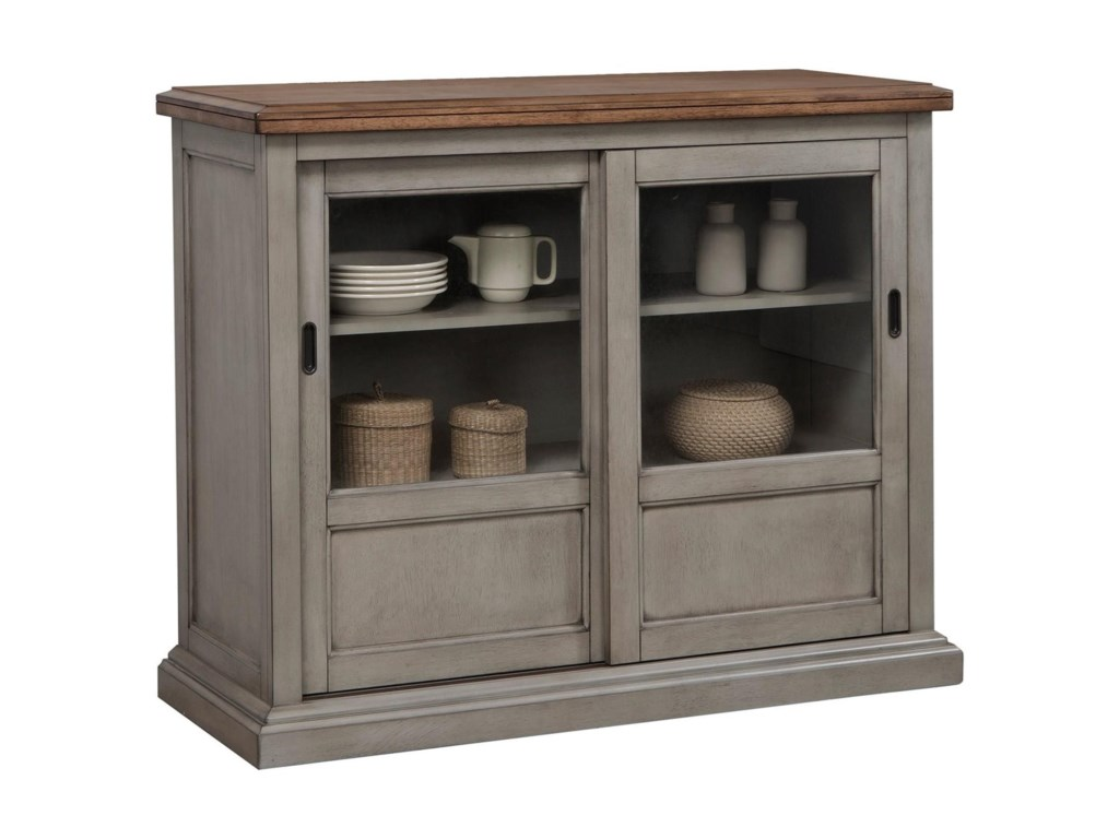 45 Sideboard With Sliding Glass Doors