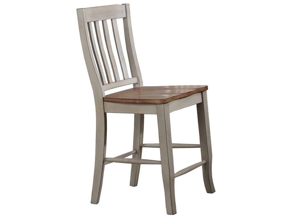 Winners Only Brayden - GreyRake Back Counter Height Stool