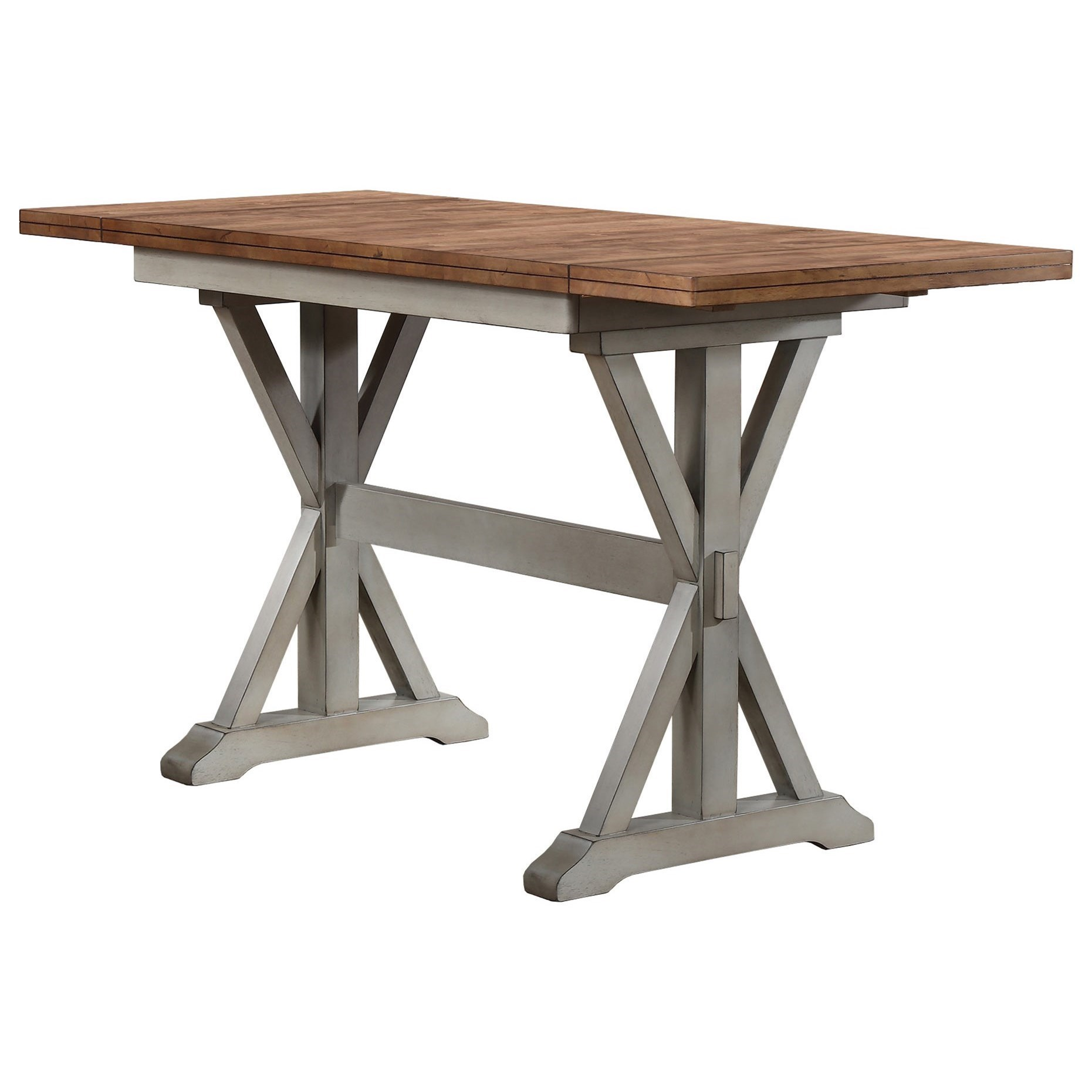 Barnwell Counter Height Trestle Dining Table with two 10\  Leaves by Winners Only  sc 1 st  Pilgrim Furniture City & Winners Only Barnwell DBT52866 Counter Height Trestle Dining Table ...