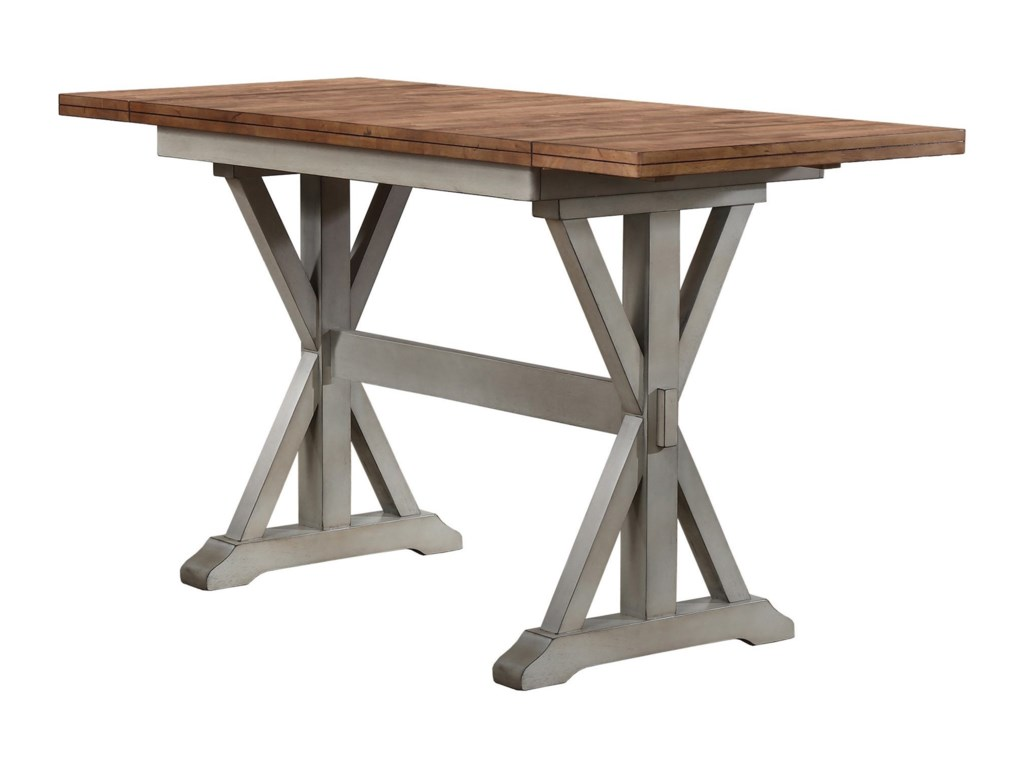 Winners Only Barnwell DBT Counter Height Trestle Dining Table - Counter height table for two