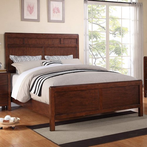 Winners Only Hampshire California King Panel Bed with Walnut Finish