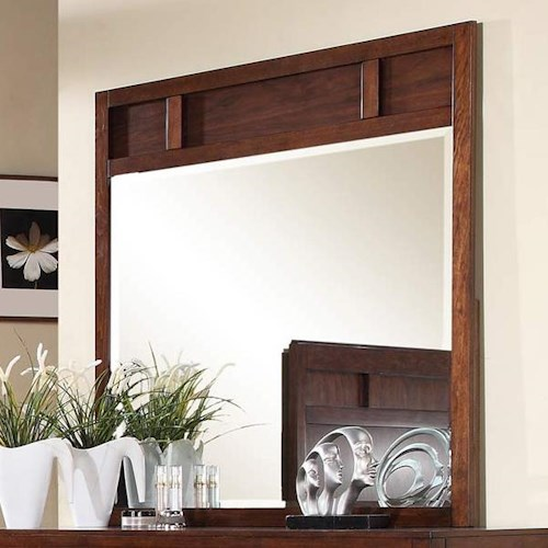 Winners Only Hampshire Beveled Glass Dresser Mirror with Walnut Frame