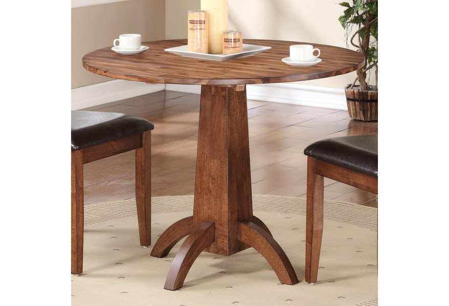 Broadway Single Pedestal Drop Leaf Table by Winners Only at Dunk & Bright  Furniture