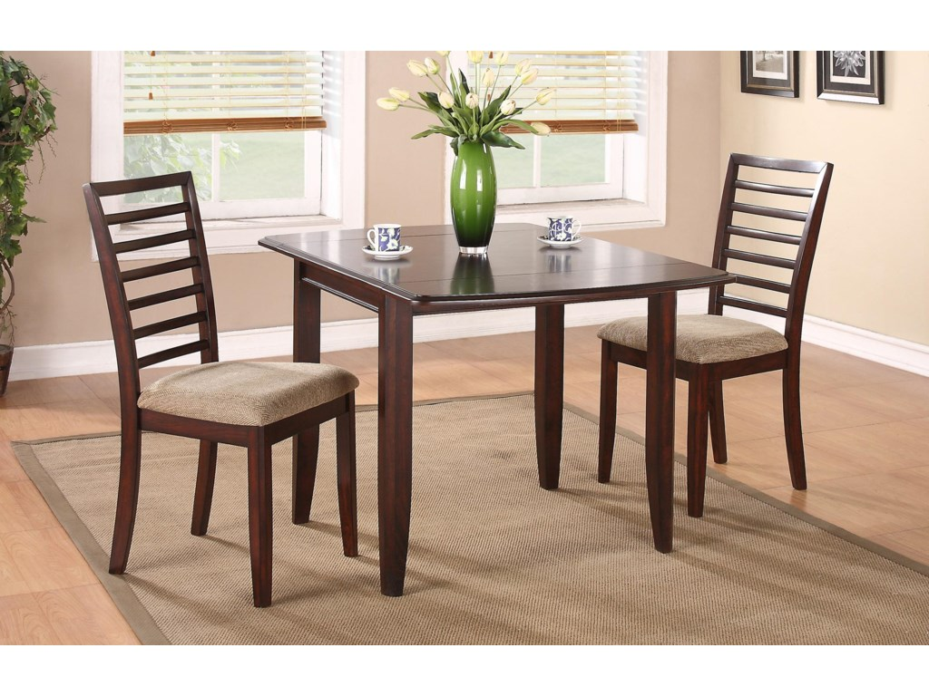 Brownstone 50 Table And Chair Set With Upholstered Seat Cushions By Winners Only