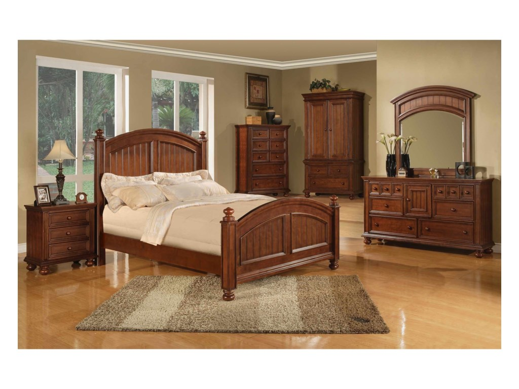 Winners Only Cape CodPanel King Bed