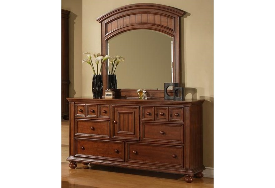Winners Only Cape Cod 6 Drawer Dresser And Landscape Mirror