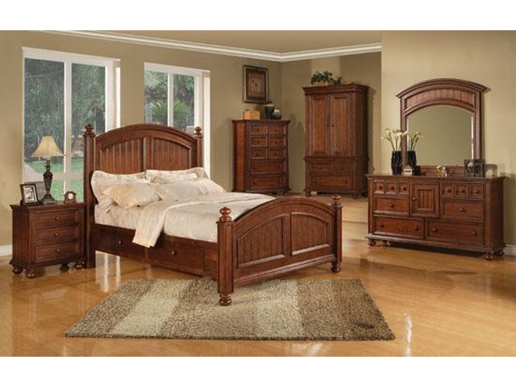 Winners Only Cape CodSix Drawer Dresser and Mirror Combo