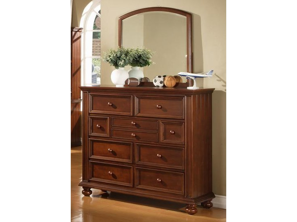 Winners Only Cape CodYouth Tall Dresser and Mirror Combo