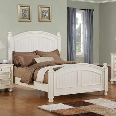 Winners Only Cape Cod Transitional Panel Twin Bed With Bun Feet