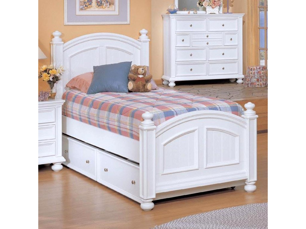 Winners Only YarmouthTwin Panel Bed with Trundle
