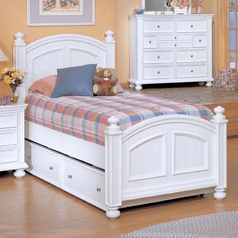 Winners Only Cape Cod Twin Panel Bed With Trundle ...