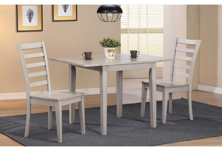 Winners Only Carmel Dining Set With Ladderback Chairs And Butterfly Leaf Crowley Furniture Mattress Dining 3 Piece Sets
