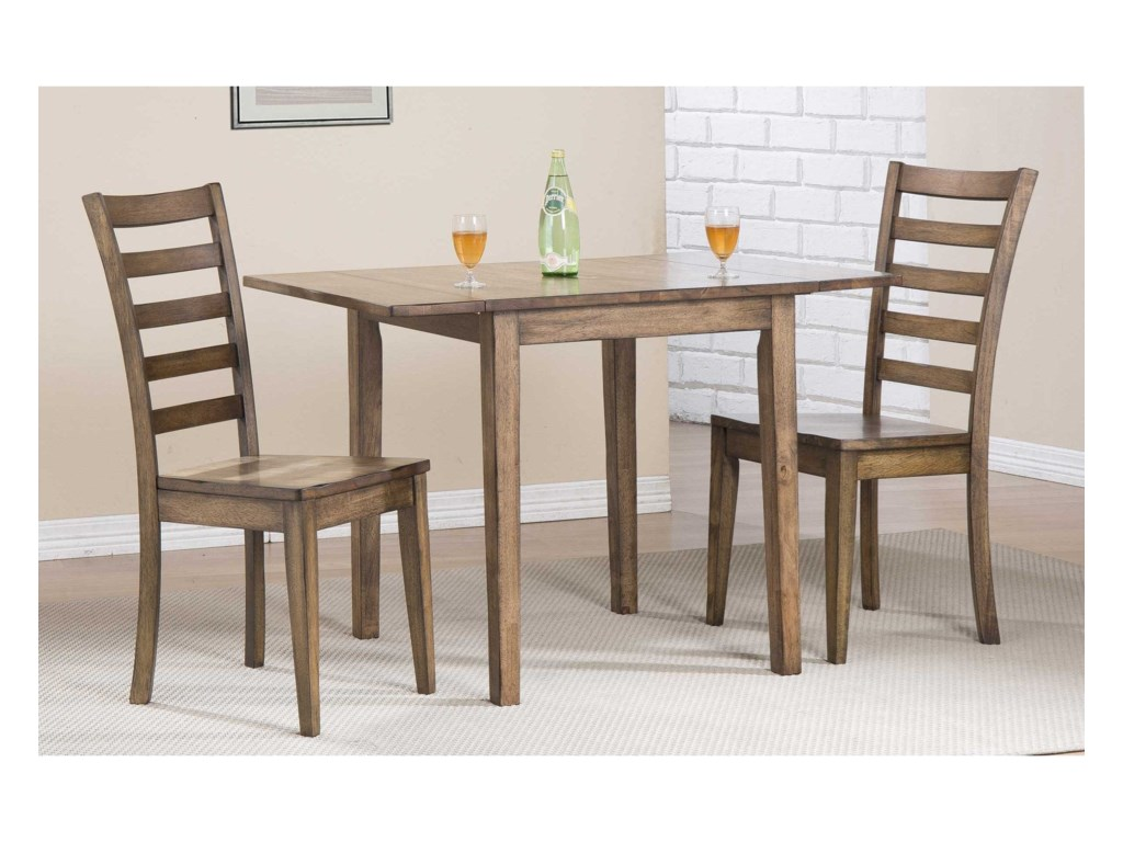 Winners Only CarmelDining Set with Ladderback Chairs