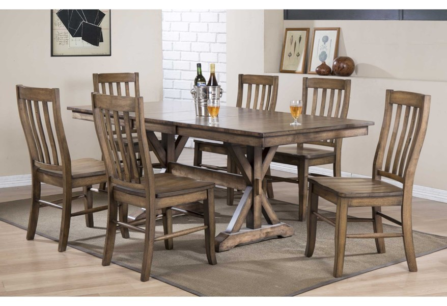 Winners Only Carmel Dc33878r 60 Rectangular Table With 18 Butterfly Leaf O Dunk O Bright Furniture Dining Tables