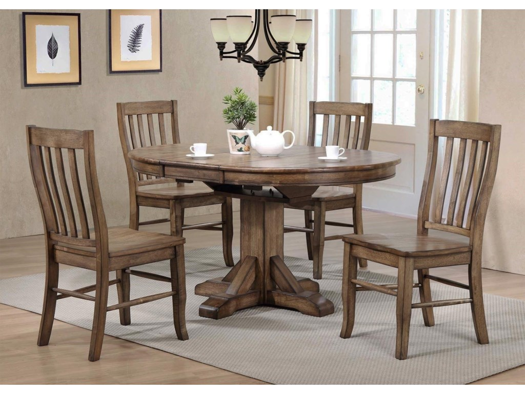 Winners Only Catamount: Rustic Brown5PC Dining Table & Chair Set
