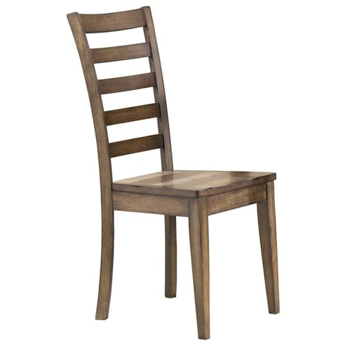 Winners Only Carmel Ladderback Side Chair With Rustic Brown Finish Pilgrim Furniture City