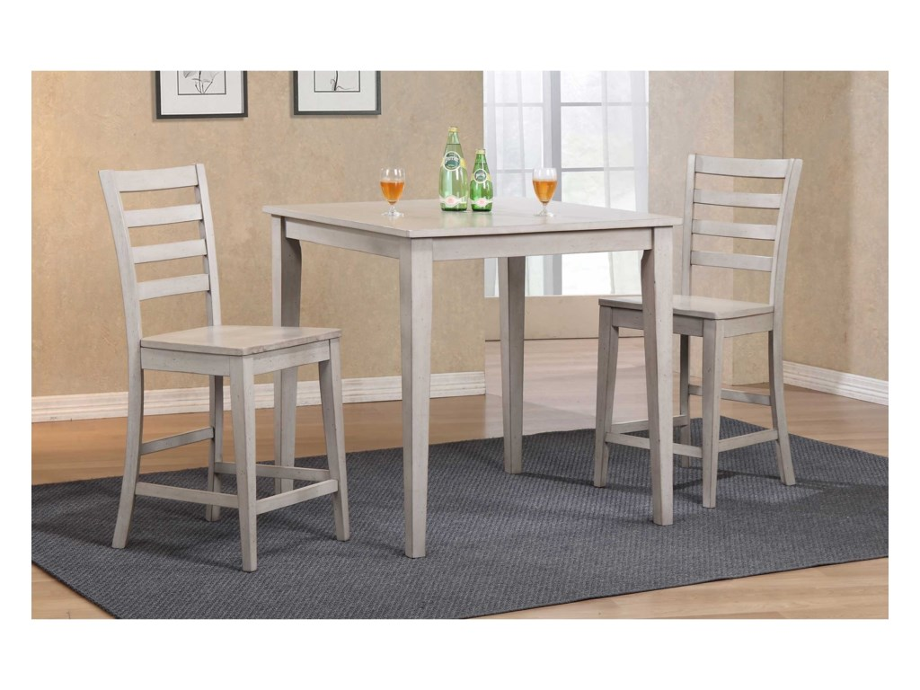 Winners Only Carmel3 Piece Counter Height Dining Set
