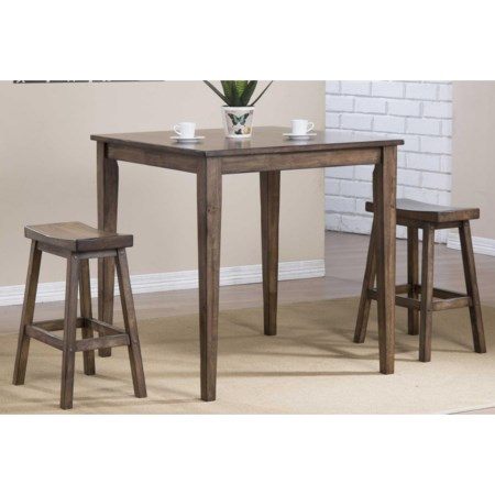 3 Piece Counter Height Dining Set