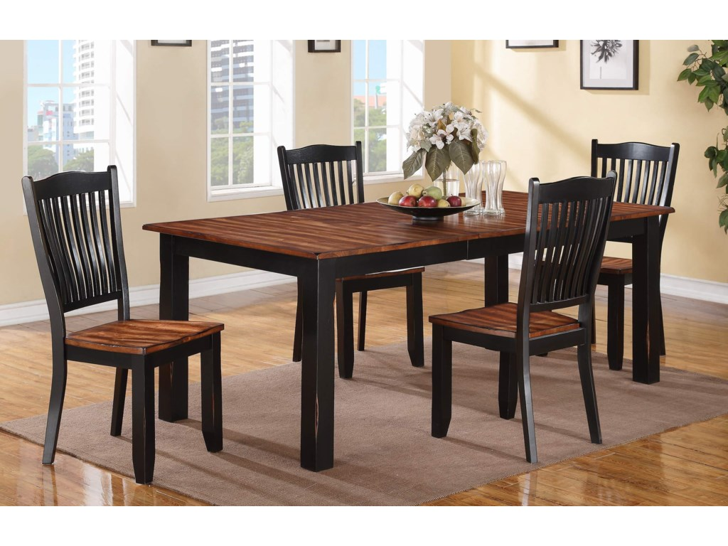 Winners Only CarsonTable and Slat Back Chair Set