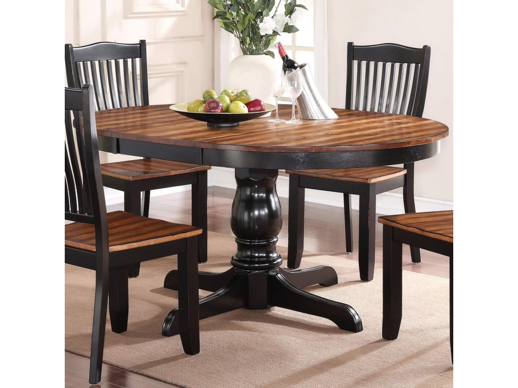 Winners Only Carson Dfc14866 66 Round Single Pedestal Table With