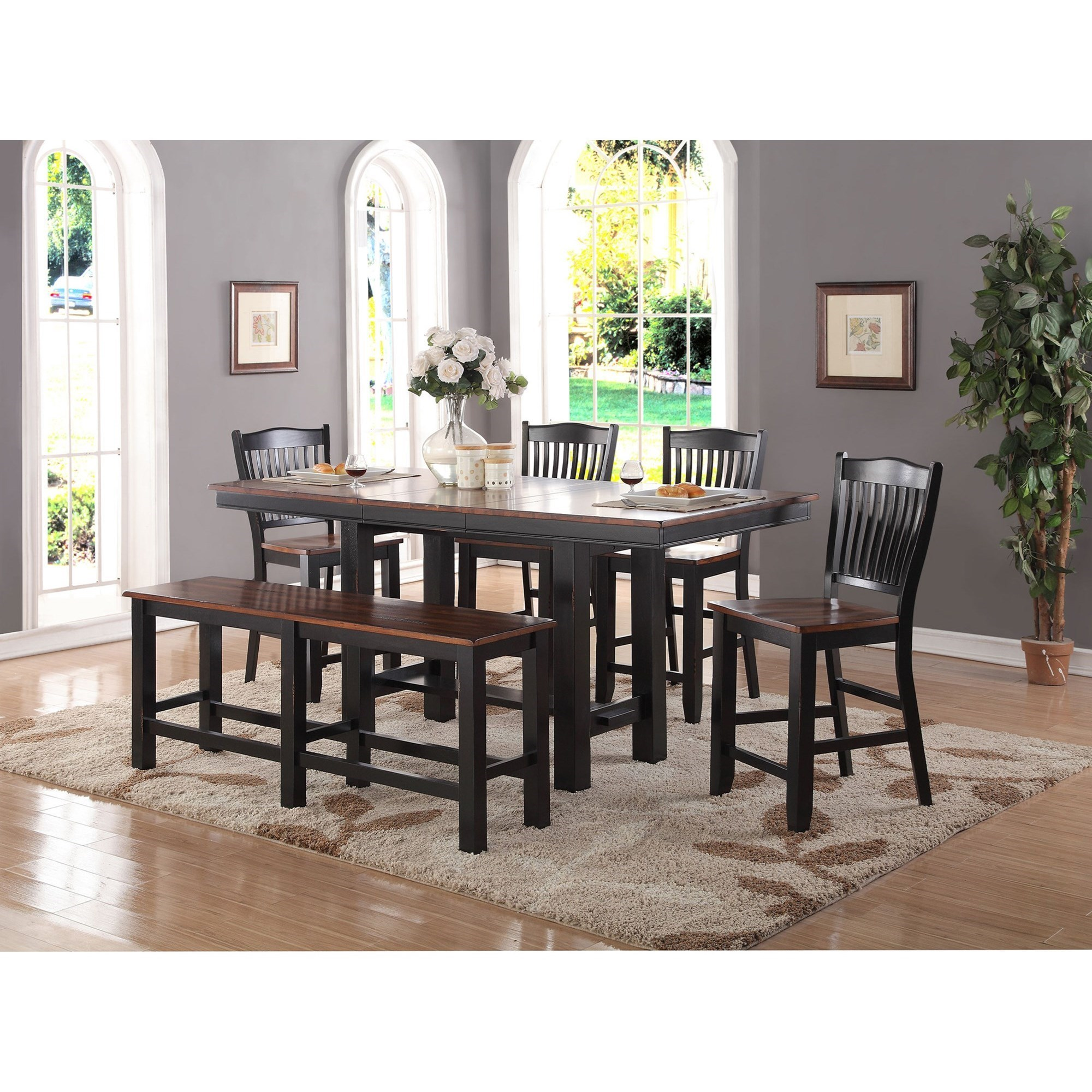 Attirant Carson 6 Piece Counter Height Dining Set By Winners Only
