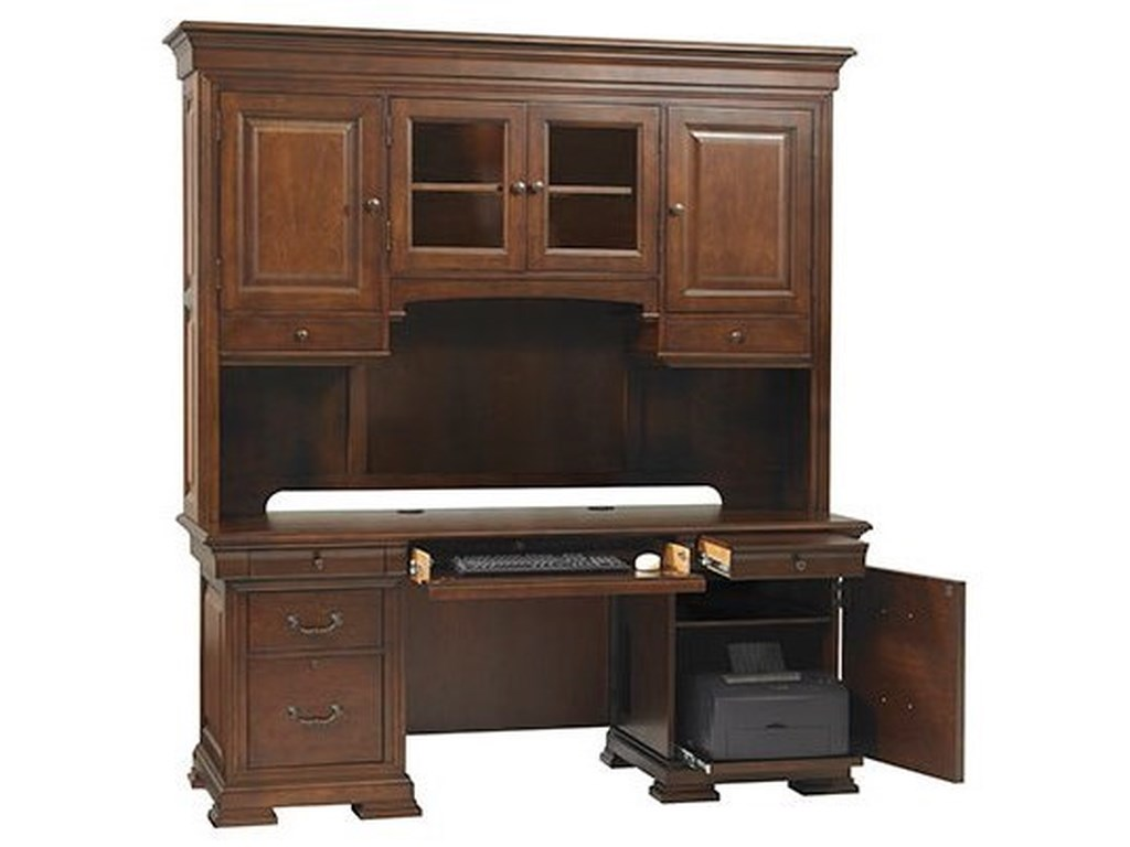 Winners Only Classic Traditional Credenza And Hutch With Adjustable