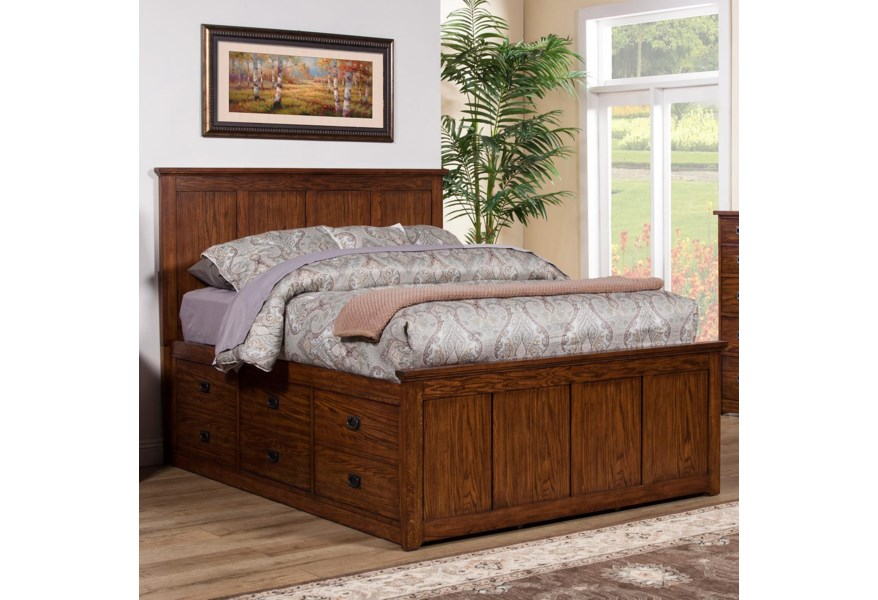 Winners Only Colorado Queen Storage Bed with 6 Drawers ...