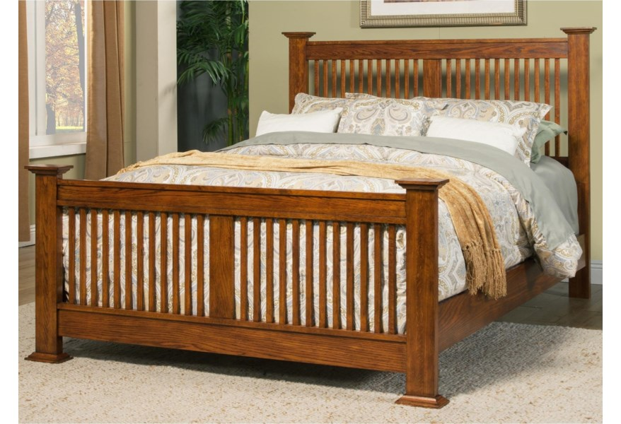Winners Only Colorado King Bed with Slat Headboard ...