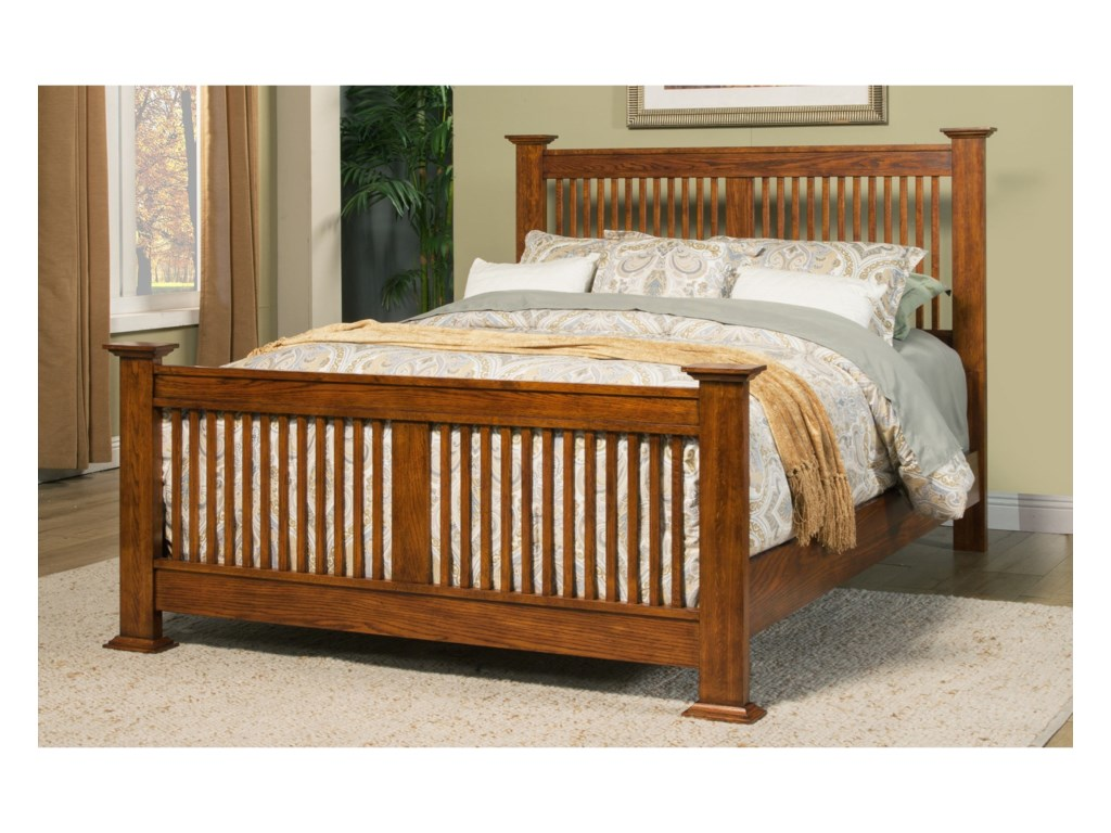 Colorado Queen Bed with Slat Headboard by Winners Only at Gallery Furniture