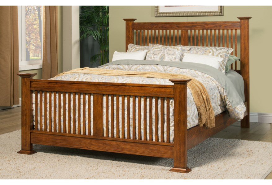 Winners Only Colorado Queen Bed with Slat Headboard ...