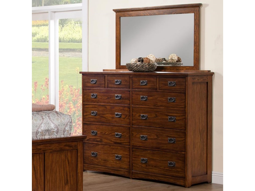 Winners Only ColoradoDresser and Mirror Set