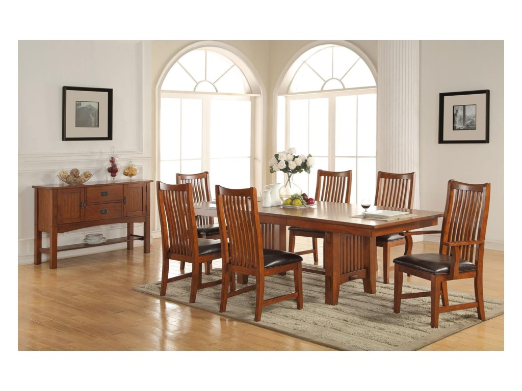 Winners Only ColoradoTrestle Table with 18