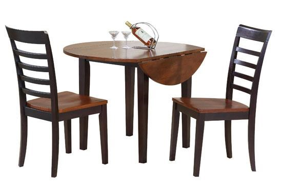 Charmant Winners Only Contemporary Farmhouse 3 Piece Drop Leaf Table And Chair Set