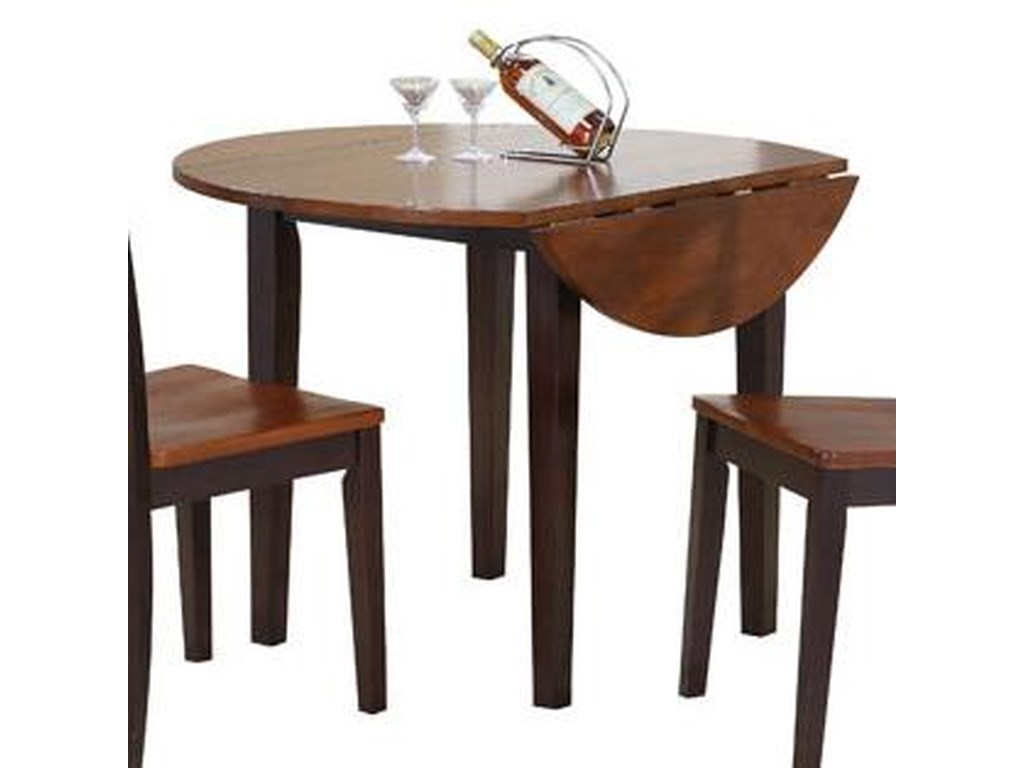 Contemporary Farmhouse Drop Leaf Kitchen Table by Winners Only at Gallery  Furniture