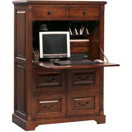 "41"" Country Cherry Computer Armoire"