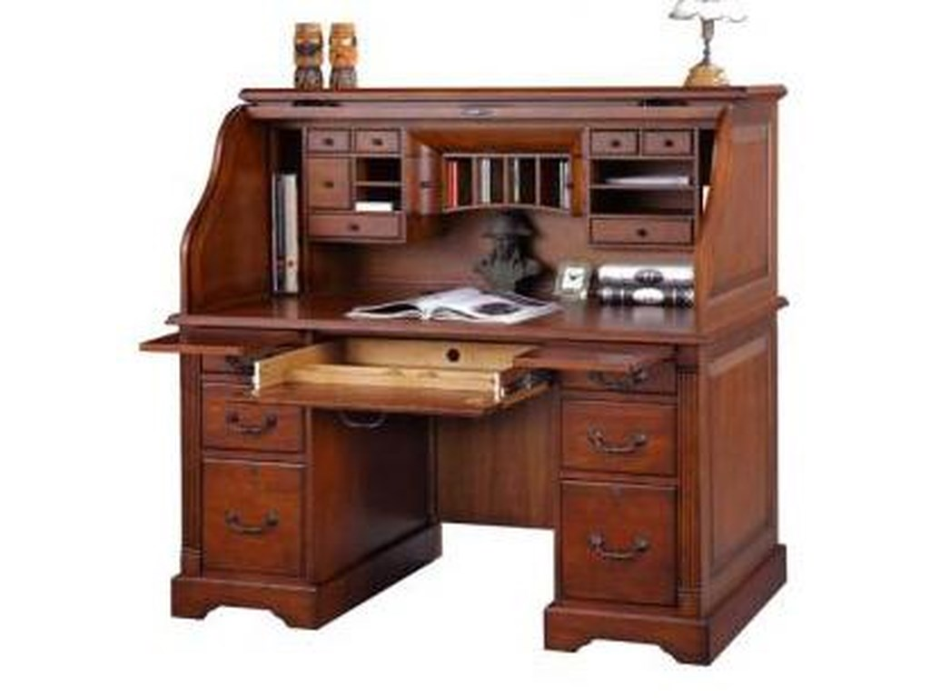 Winners only country cherry k157r 57 roll top desk dunk bright furniture roll top desks
