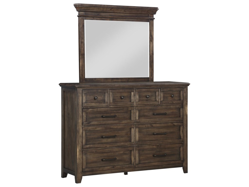 Winners Only Dahpne WO10-Drawer Dresser and Mirror Set