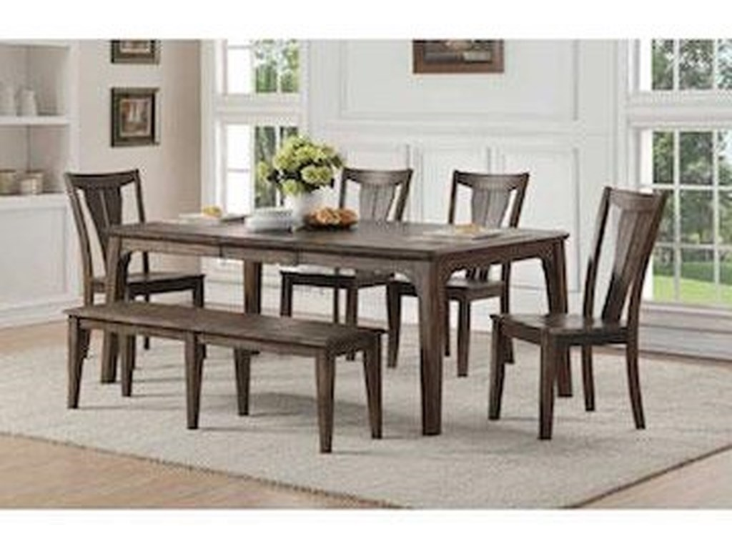 Winners Only Daphne6 PC Dining Set With Bench