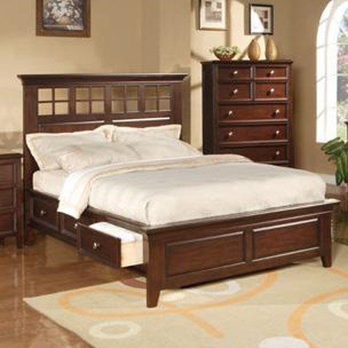 Winners Only Del Mar Queen Size Country Style Storage Bed