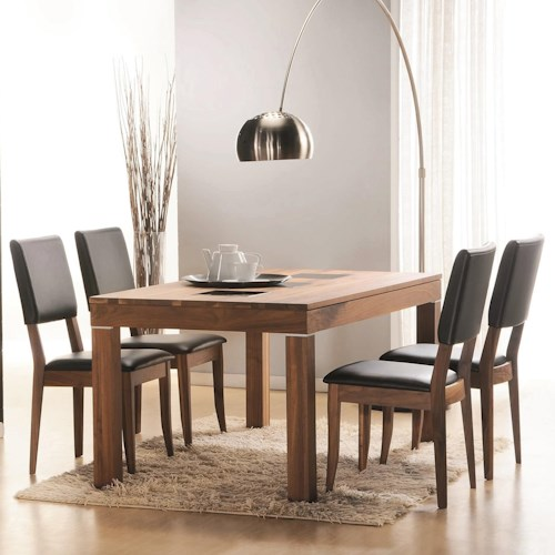Winners Only Denmark 5 Piece Dining Set with Rectangular Table