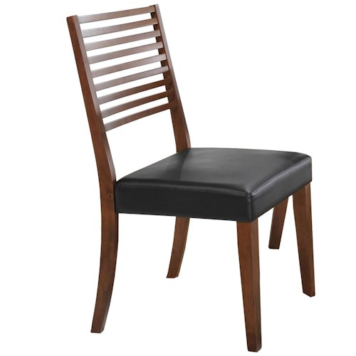 Winners Only Denmark Ladder Back Side Chair with Upholstered Seat