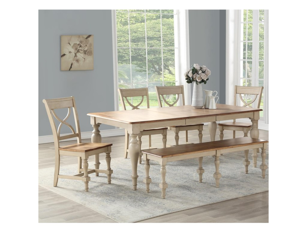 Winners Only DevonshireTable And Chair Set With Bench