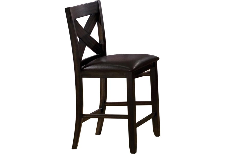 quality design 3104b 9244a Edgewater X Back Bar Stool with Upholstered Seat by Winners Only at Dunk &  Bright Furniture