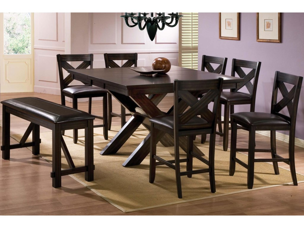 Winners Only Edgewater 8 Piece Counter Height Dining Set