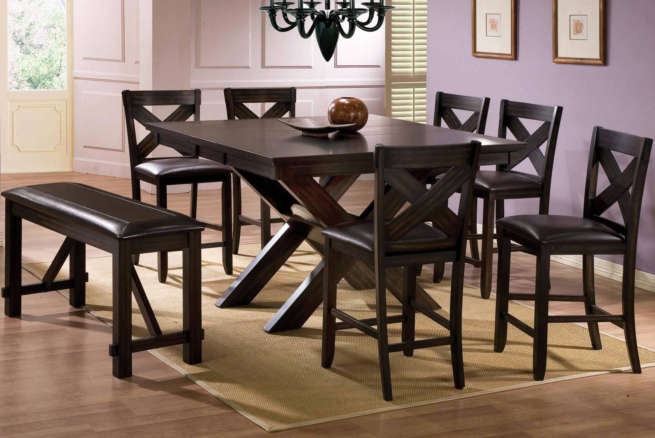 Winners Only Edgewater 8 Piece Counter Height Dining Set With Bench
